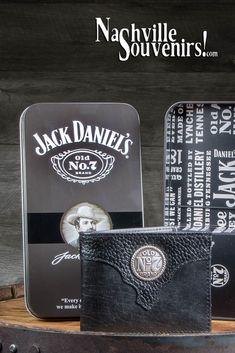 Jack Daniel's Old Brand Billfold Wallet with Medallion Jack Daniels Decor, Jack Daniels Logo, Jack Daniels Bottle, Jack Daniels Whiskey, Jack Daniel's Tennessee Whiskey, Silver Belts, Billfold Wallet, Jack Black, Bottle Labels