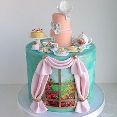 Cake scene on a cake...CLEVER!