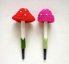 crochet pen cozies