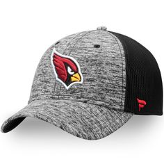 d2d421c72b9a7 Arizona Cardinals NFL Pro Line by Fanatics Branded Static Trucker  Adjustable Snapback Hat - Heathered Gray