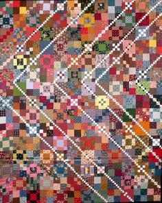 Trail Mix quilt was made by Dianna Carter-Hinz of Weatherford Texas