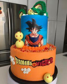 Debo confesarles que cuando hice esta torta motivo dragón ball Z recordé mi infancia cuando estudiaba en el cole y mis amigos salían… Goku Birthday, Naruto Birthday, Jesus Birthday, Ball Birthday, 1st Boy Birthday, Birthday Parties, Tarta Dragon Ball, Dragonball Z Cake, Fiesta Cake