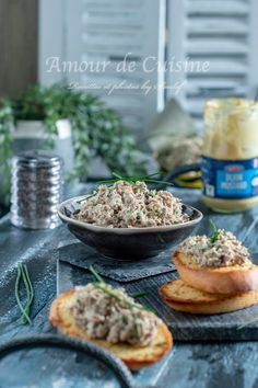 Rillettes de sardine à la moutarde ( recette facile) - Amour de cuisine Flux Rss, Pain Pita, Meat, Chicken, Baked Potato, Potatoes, Baking, Food, Ethnic Recipes