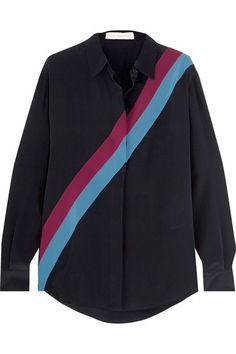Stella McCartney | Striped silk crepe de chine shirt | NET-A-PORTER.COM