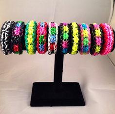 Rainbow Loom Starburst  Bracelet Fun Rubber Band by tomtill, $15.99
