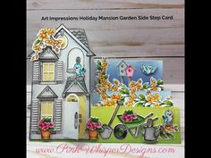 Art Impressions Holiday Mansion Garden Side Step Card – Pink Whisper Designs
