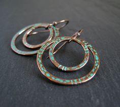 Copper Wire Jewelry | ... Copper Hoop Earrings, Patina Earrings, Copper Hoops, Wire Jewelry