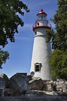 Faro de Marblehead en el lago Erie