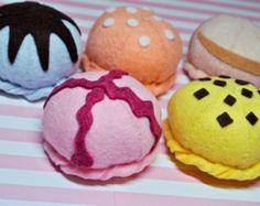 Felt DIY-Kit Ice Cream Set includes 5 scoop by PinkKittyPrincess