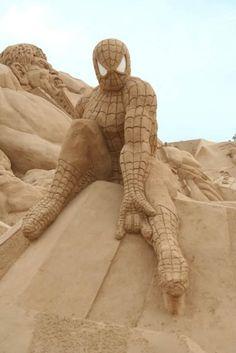 Spiderman Sand Sculpture #sandsculpture #sand #sculpture #art #spiderman