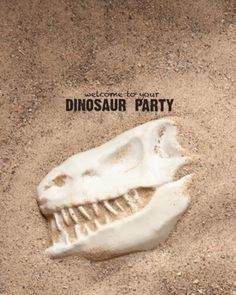 Dinosaur party - make plaster of paris bones for the kids to dig up in a big sandbox.