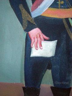 San Martin, Protector del Peru, acrilico sobre lienzo,30 x 45 cm. , 2001…
