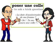 L'expression du jour : « poser une colle » [poze yn kɔl] ❓❓❓ #FLE #Francais #Expressionoftheday #learnfrench