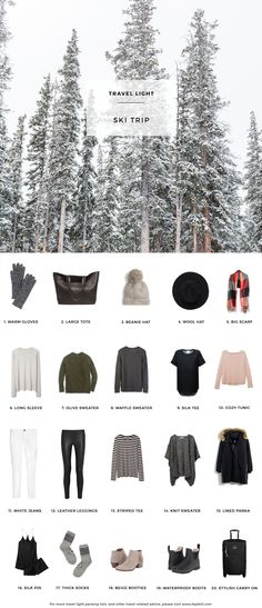Élégant Banquise for a Ski Trip (hej doll) : I love this whole list and I have a lot of cap. Banquise for a Ski Trip (hej doll) : I l. Ski Fashion, Look Fashion, Fashion Wear, Fashion Trends, Travel Wardrobe, Capsule Wardrobe, Travel Outfits, Travelling Outfits, Packing Outfits