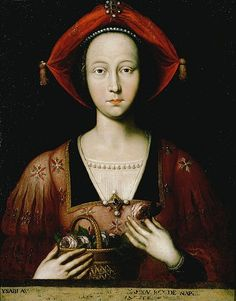 -Isabella of Lorraine by Ambito Francese. Isabella (1400 – 1453) was suo jure Duchess of Lorraine, She was the first wife of Duke René of Anjou, King of Naples, and the mother of his children, which included Margaret of Anjou, Queen consort of England as the wife of Henry VI.From 1435 to 1442, Isabella was Queen consort of Naples During her husband's absences, she acted as regent for his domaine. Great great grandmother of Mary of Guise.