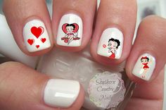 Betty Boop Nail Art Decals