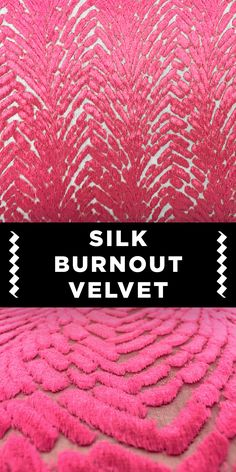 Pink Art Deco Pattern Silk Burnout Velvet