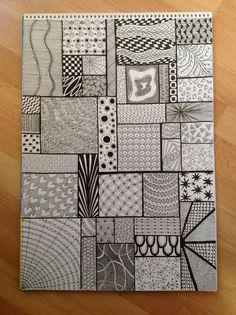 — Jaye January – Sampler – Zentangel – Home crafts Easy Doodle Art, Doodle Art Designs, Doodle Art Drawing, Zentangle Drawings, Doodle Patterns, Cool Art Drawings, Pencil Art Drawings, Zentangle Patterns, Mandala Drawing