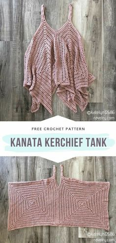 Kanata Kerchief Tank Free Crochet Pattern Can you believe that this stunning summer top is actually quite easy to make? It would make a lovely outfit for a romantic walk in the park and for a day at the beach. Mode Crochet, Single Crochet Stitch, Basic Crochet Stitches, Crochet Basics, Needlepoint Stitches, Bonnet Crochet, Crochet Yarn, Crotchet, Crochet Clothes