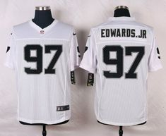 aede1927b NFL Customize Oakland Raiders 97 Edwards.Jr White Men Nike Elite  Jerseyscheap nfl jerseys