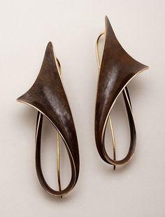 Lily Earrings: Nancy Linkin: Bronze Earrings | Artful Home