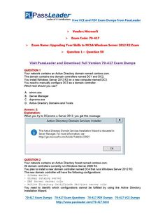 70-417 Exam Dumps with PDF and VCE Download (1-50)