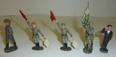 Elastolin Massefiguren Konvolut Schwede Einweiser Fahnenträger Panzer Kommandant | eBay