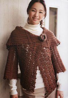 Ivelise Feito à Mão: Lindo Casaco Multi Uso Em Crochê