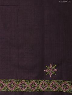 Wine Silk Kasuti Handwoven Saree - Buy Sarees > Woven Sarees > Wine Silk Kasuti Handwoven Saree Online at Jaypore.com