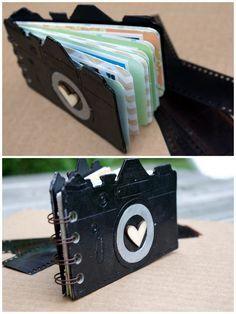 Mini-album a forma di macchina fotografica.. bello!