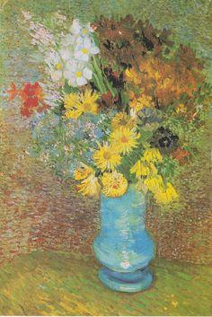 Van Gogh - Vase mit Margeriten und Anemonen, 1887