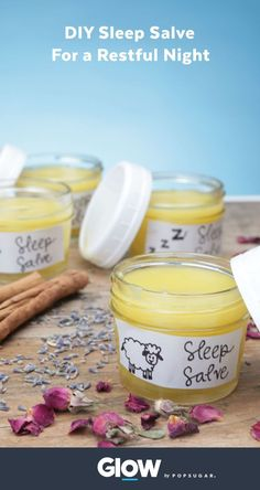 Natural Sleep Remedies This DIY sleep salve will leave you feeling calm and rested as a natural aid to help insomnia and every day stress. Insomnia Help, Insomnia Causes, Insomnia Remedies, Natural Sleep Remedies, Natural Cures, Natural Treatments, Natural Skin, Natural Health, Natural Sleeping Pills