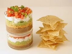 omg, I shouldn't admit it, but I could eat an entire dish of 7 layer dip! Maybe serving up this way will help with my portion control ;o)