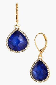 Anne Klein Stone Teardrop Earrings available at Nordstrom's - gift I'd love to give brides maids