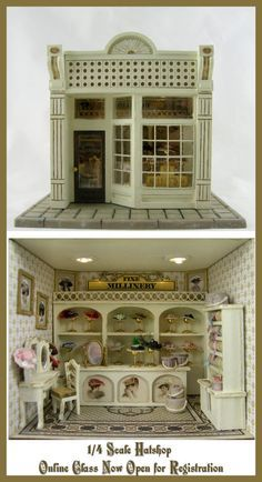 Dollhouse Miniature Furniture Distressed Bathroom By