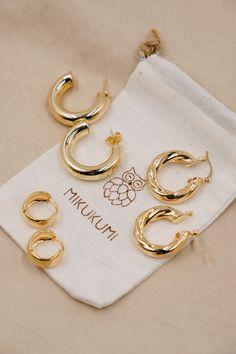 18K Gold Filled Hoop Earrings