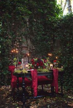 A darkly romantic tablescape inspired by Edgar Allan Poe   Photo by Tashana Klonius