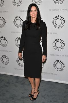 "Courteney Cox attends a special screening of ""Cougar Town"" presented by Paley Center for Media in Beverly Hills, Calif., on Feb. 8, 2012."