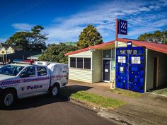 https://flic.kr/p/J38bVk | Maleny Police Station Tardis | Photos taken in Maleny Australia during Knitfest Maleny 2016. In the Sunshine Coast hinterland, Queensland, Australia. www.knitfest.com.au