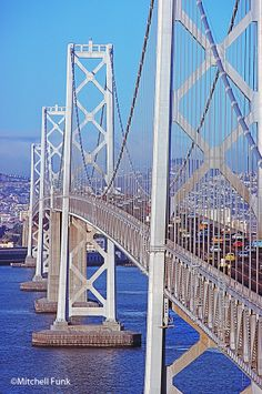 Close Up View Of The Bay Bridge Circa.1978, San Francisco  By Mitchell Funk   www.mitchellfunk.com