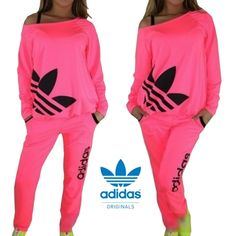 ADIDAS WOMEN NEON COLOR SWEATERS PANTS SLEEPING CLOTHES