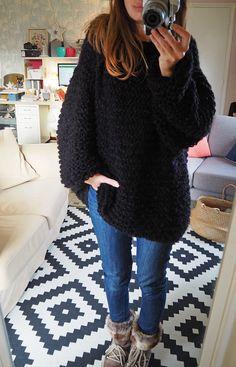 Y'a pas à dire, le tricot est vraiment un sport d'hiver ! Je ne m'arrête pas en ce moment, j'aime sortir ma laine le soir...