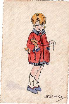 Carte Postale ancienne illustrée datée 1918
