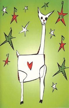 Alpaca Love Greeting Card in Green