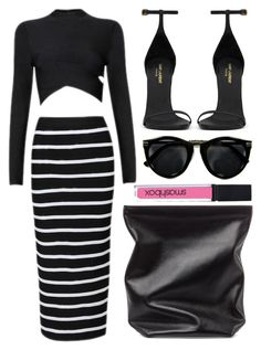 street style by sisaez on Polyvore featuring polyvore fashion style Yves Saint Laurent Jil Sander Smashbox clothing