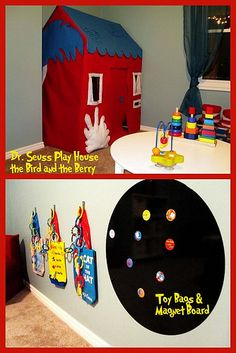Dr. #Seuss DIY Playhouse and play room decor