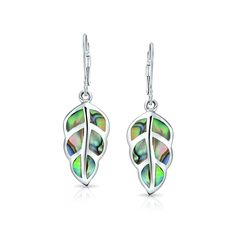 Bling Jewelry Silver Abalone Shell Nature Leaf Drop Leverback Earrings *** To view further for this item, visit the image link. (This is an affiliate link) Sterling Silver Earrings, 925 Silver, Abalone Shell, Bling Jewelry, Cute Gifts, Women's Earrings, Shells, Dangles, Gemstones