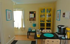 Organization. Yellow Ikea Billy bookcase <3