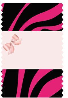 Zebra com rosa – Kit festa grátis para imprimir – Inspire sua Festa ®