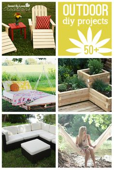 50 Best DIY Outdoor Projects @savedbyloves #outdoorliving